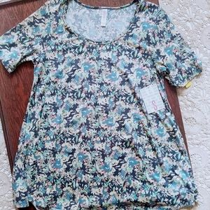 NWT 3/$40 LuLaRoe Perfect T Muted Floral S